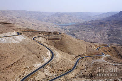 Jordan Photograph - The Kings Highway At Wadi Mujib Jordan by Robert Preston