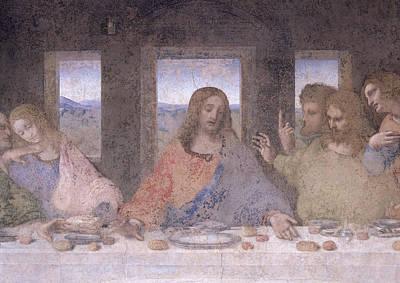 The Followers Painting - The Last Supper by Leonardo Da Vinci