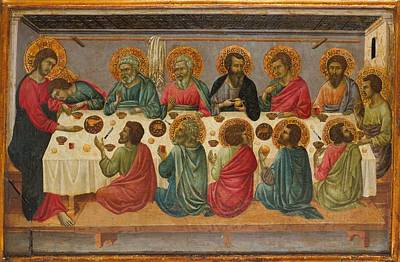 Siena Italy Painting - The Last Supper by Ugolino da Siena