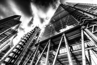 Vermeer Rights Managed Images - The Lloyds of London Cheesegrater and Willis Group London Royalty-Free Image by David Pyatt