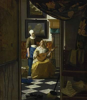 The Love Letter Art Print by Johannes Vermeer