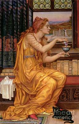 Fantasy Cats Painting - The Love Potion by Evelyn De Morgan