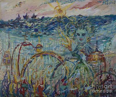 Atlantis Painting - The Medusa Snare by Avonelle Kelsey
