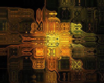 Framed Art Digital Art - The Midas Touch by Amanda Moore