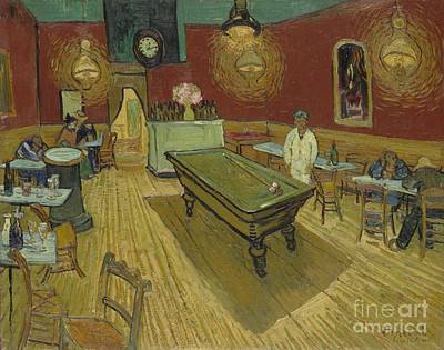 The Night Cafe Print by Vincent Van Gogh