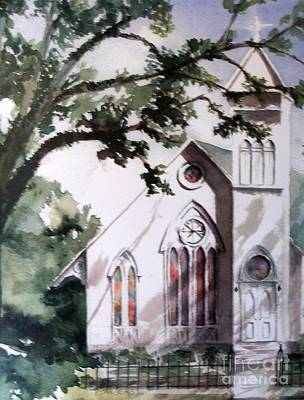 Art Print featuring the painting The Old Church by Mary Lynne Powers
