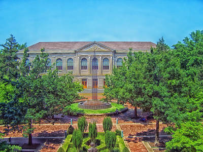 The Old Main - University Of Arkansas Art Print