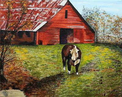 Painting - The Old Red Barn by Denise Hills