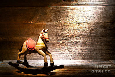 The Old Rocking Horse In The Attic Art Print