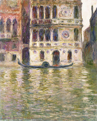 Window Signs Painting - The Palazzo Dario by Claude Monet