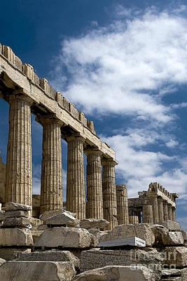 Caryatids Digital Art - The Parthenon  by Borislav Stefanov