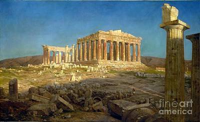 Ruin Painting - The Parthenon by Celestial Images