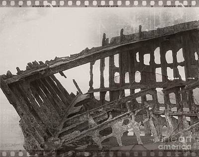 Mixed Media - The Peter Iredale 10 by Chalet Roome-Rigdon