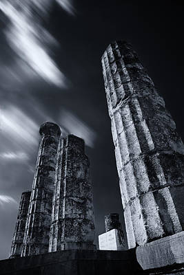 Print featuring the photograph The Pillars Of Apollo's Temple by Micah Goff