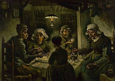 Netherlands Painting - The Potato Eaters by Vincent van Gogh