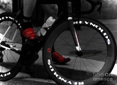 Shoe Digital Art - The Power Of Red by Steven  Digman