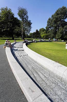 Princess Diana Photograph - The Princess Diana Memorial Fountain In Hyde Park London England by Robert Preston