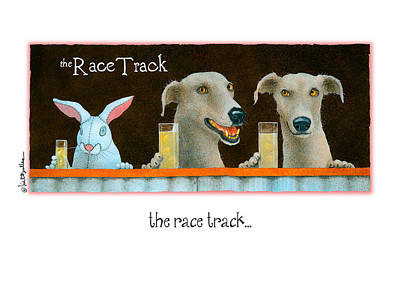 Greyhound Painting - The Race Track... by Will Bullas