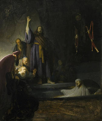 Painting - The Raising Of Lazarus by Celestial Images