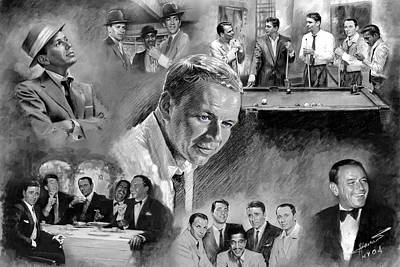 Frank Sinatra Mixed Media - The Rat Pack  by Viola El
