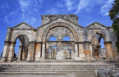 Qalat Photograph - The Ruins Of The Church Of St Simeon Syria by Robert Preston