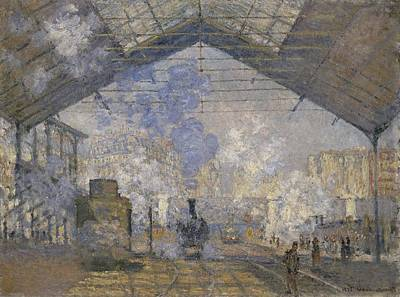 Gare Painting - The Saint-lazare Station by Claude Monet