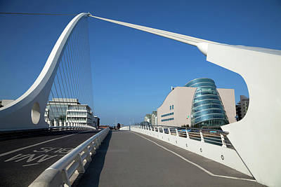The Samual Beckett Bridge Art Print