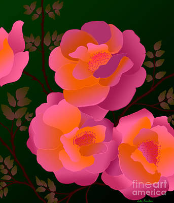 Art Print featuring the digital art The Scent Of Roses by Latha Gokuldas Panicker
