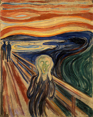 Beautiful Scenery Drawing - The Scream by Celestial Images