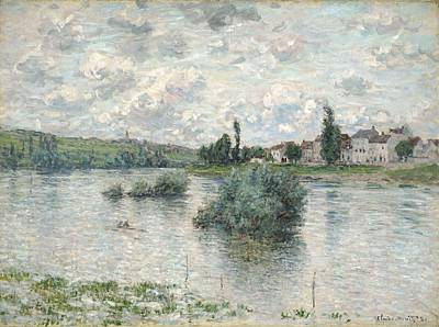 Cambridge Painting - The Seine At Lavacourt by Claude Monet