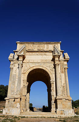 The Septimus Severus Arch At Leptis Magna In Libya Art Print