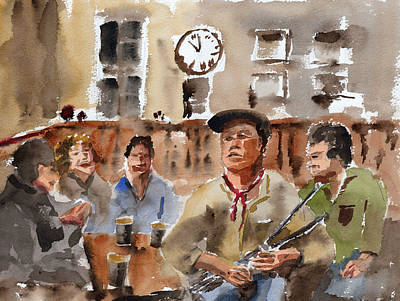 Painting - The Session by Val Byrne