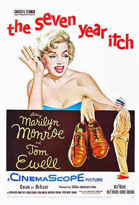 The Seven Year Itch, Marilyn Monroe Art Print