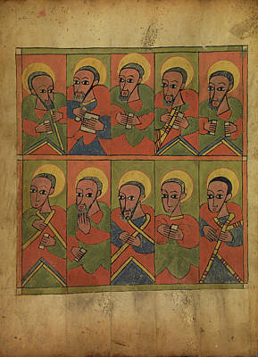 The Seventy-two Disciples Unknown Ethiopia Art Print by Litz Collection