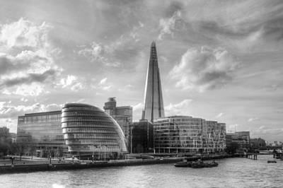 Photograph - The Shard And City Hall by Chris Day