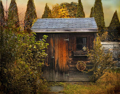 Shed Digital Art - The Shed by Jessica Jenney