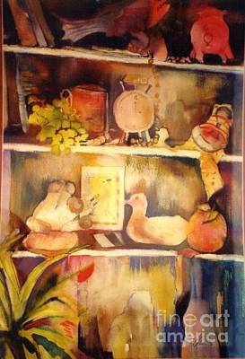Painting - The Shelf by Donna Acheson-Juillet