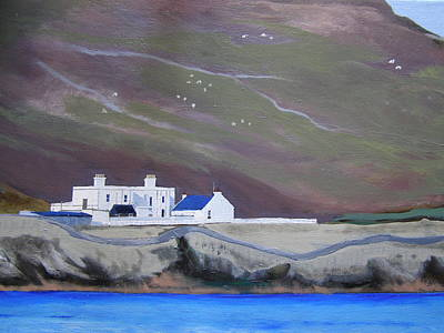 Painting - The Shore Station At Burrafirth by Eric Burgess-Ray