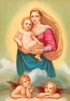 The Sistine Madonna Art Print by Raphael