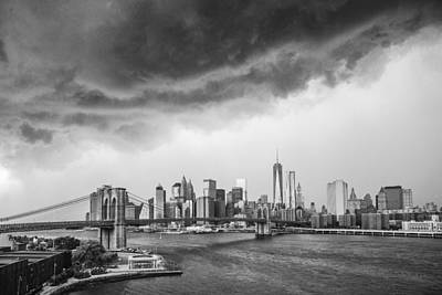 Photograph - The Storm Over Manhattan Downtown by Alex Potemkin