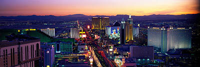 The Strip Photograph - The Strip, Las Vegas, Nevada, Usa by Panoramic Images