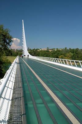 Pedestrian Bridge Photograph - The Sundial Bridge At Turtle Bay by David R. Frazier