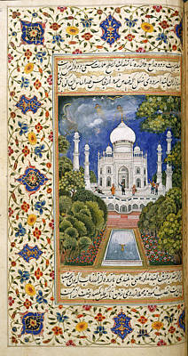 Precious Metal Photograph - The Taj Mahal by British Library
