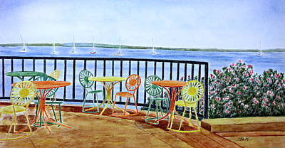 Painting - The Terrace View by Thomas Kuchenbecker