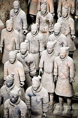 Chinese Warrior Photograph - The Terracotta Army by Delphimages Photo Creations
