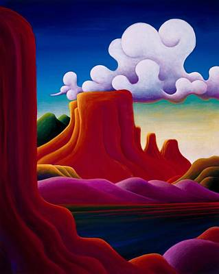 Painting - The Tomb Lake Powell by Richard Dennis