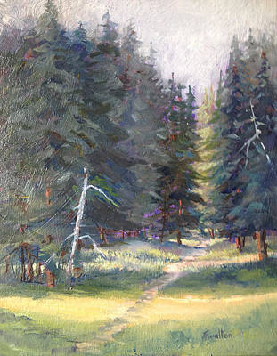 Painting - The Trail by Judy Fischer Walton