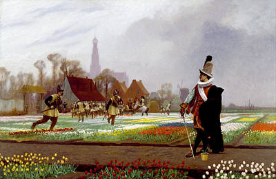 Jean-leon Gerome Painting - The Tulip Folly by Jean-Leon Gerome