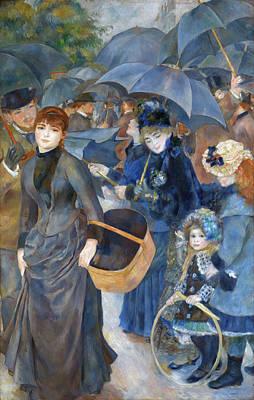 The Umbrellas Renoir Painting - The Umbrellas by Pierre-Auguste Renoir