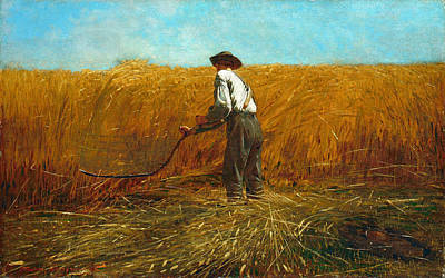 The Veteran In A New Field Painting - The Veteran In A New Field by Winslow Homer